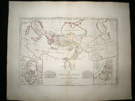 Countries in The New Testament, Judaea, Jerusalem, Cyprus 1794 Map, Dunn
